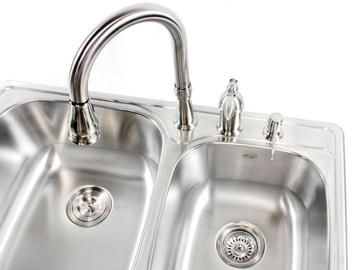 33 inch top mount drop in stainless steel double bowl kitchen sink more views workwithnaturefo