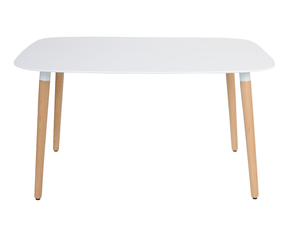 Eames Style DSW White Rectangular Dining Table From