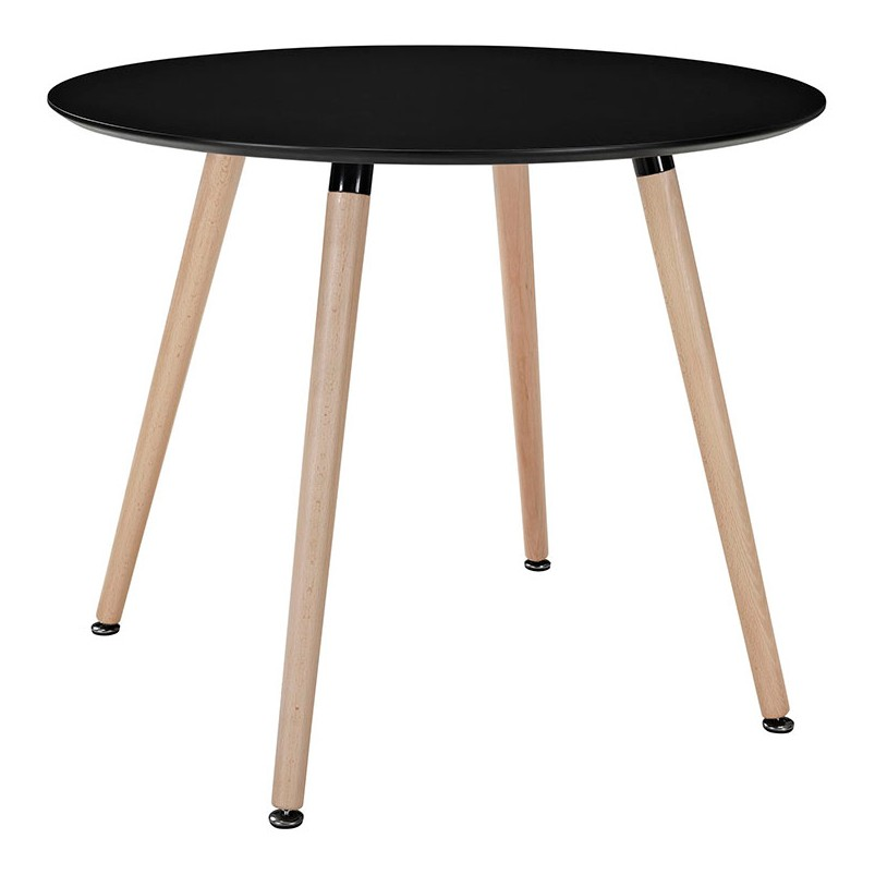 Eames Style DSW Black Round Dining Table From