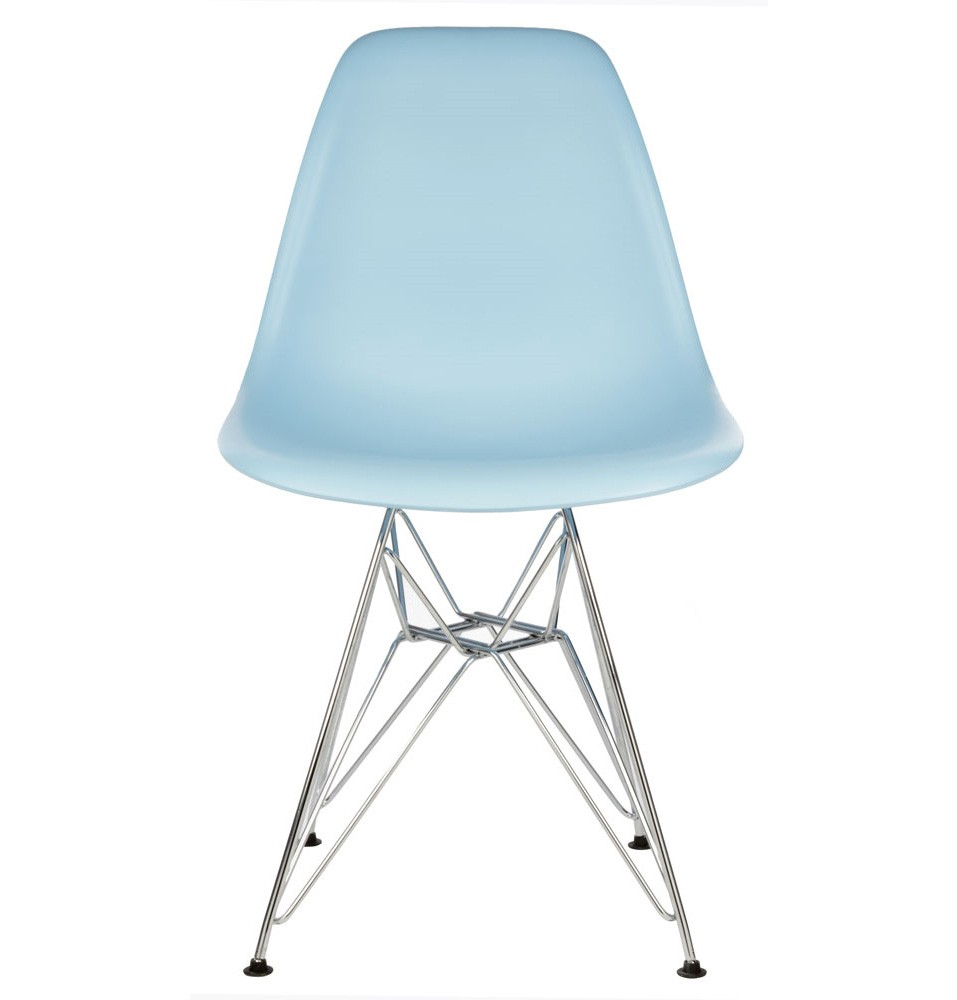 eames style dsr dining shell chair with steel eiffel legs