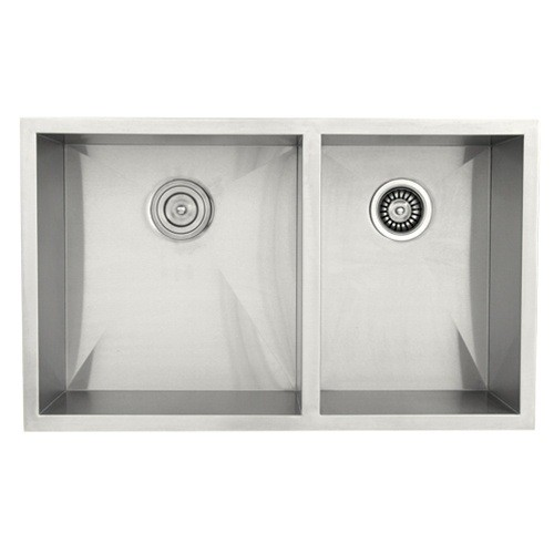 ... Steel Narrow Flat Front Farmhouse Apron Kitchen Sink 60/40 Double Bowl