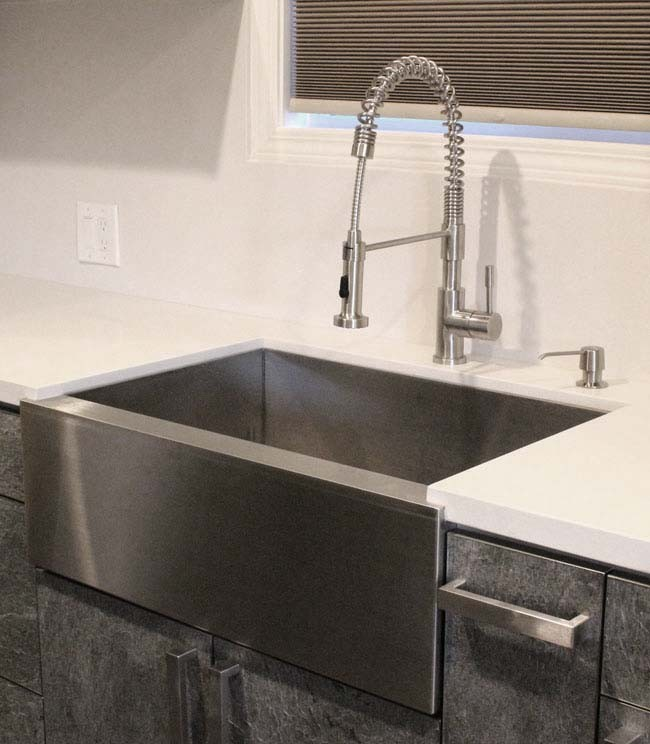 more views - Stainless Farmhouse Sink