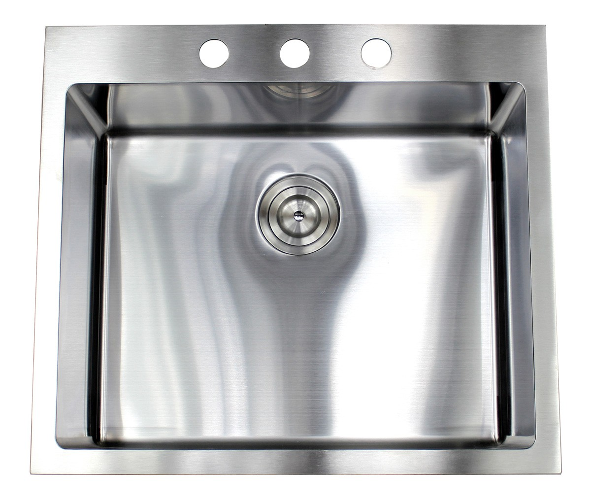 more views 25 inch top mount   drop in stainless steel single bowl kitchen      rh   cbath com