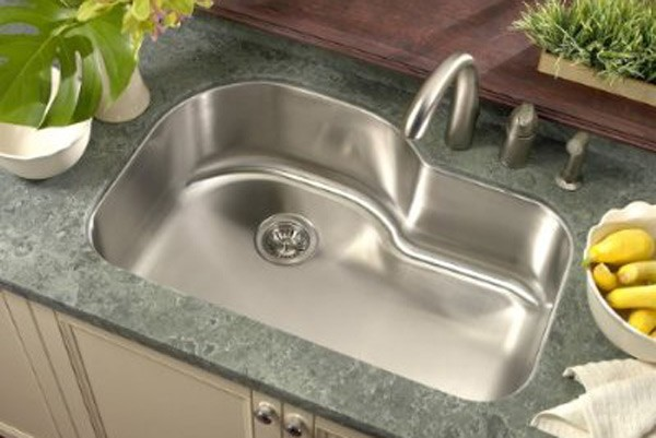 Undermount Corner Kitchen Sinks Stainless Steel : 32 Inch Stainless Steel Undermount Offset Single Bowl Kitchen Sink ...