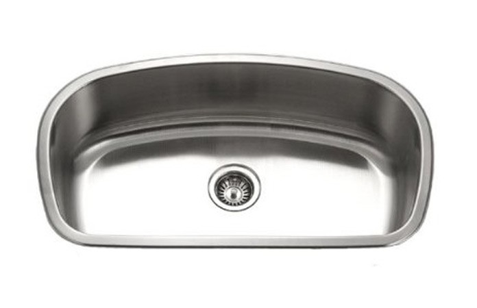 32 inch stainless steel undermount curved single bowl - Stainless steel kitchen sink accessories ...