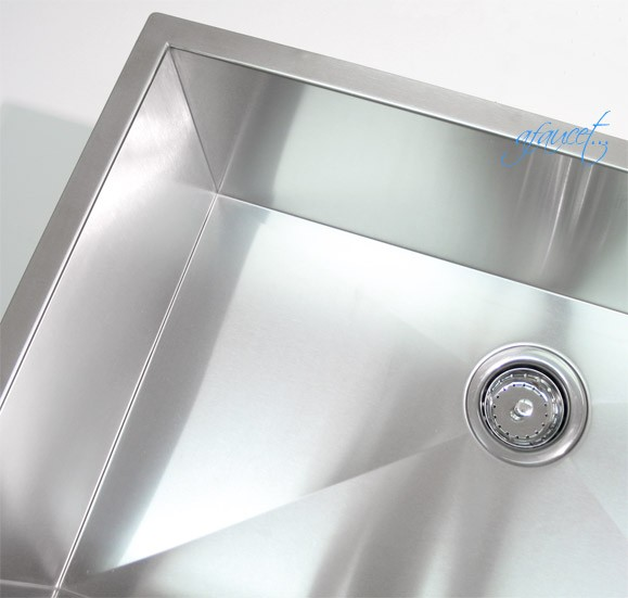 ... Stainless Steel Undermount Single Bowl Kitchen Sink Zero Radius Design