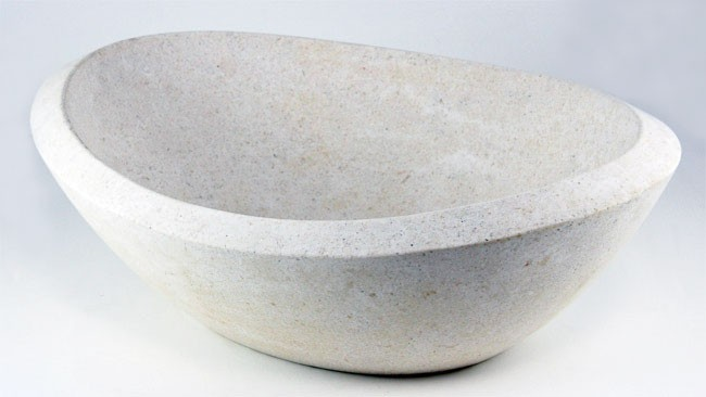 Countertop Height With Vessel Sink : ... Marble Stone Countertop Bathroom Lavatory Vessel Sink - 19 x 14 Inch