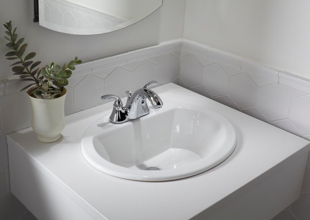 Porcelain Ceramic Vanity Drop In Bathroom Vessel Sink - 19 ...