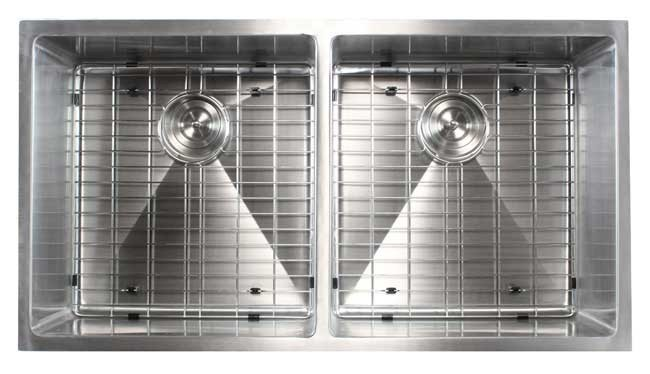 Ariel 37 Inch Stainless Steel Undermount Double Bowl 50 50