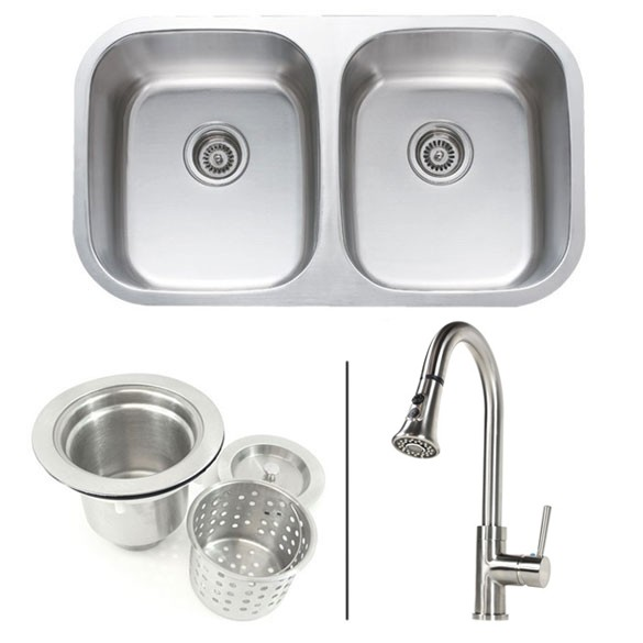 32 inch stainless steel bowl kitchen sink and