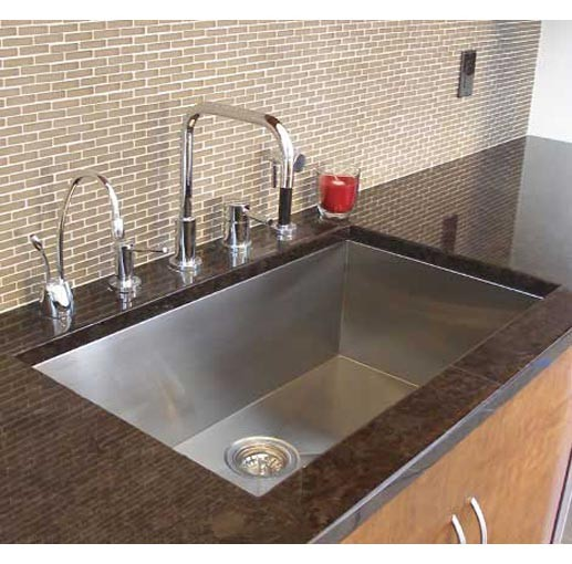 Big Undermount Kitchen Sink